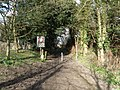 Byway entrance -exit at Stow Longa - geograph.org.uk - 1190007.jpg