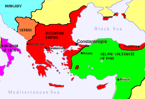 The Byzantine Empire at the accession of Alexios I Komnenos, c. 1081