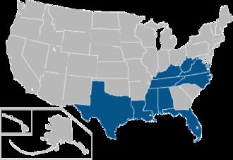 Conference USA - Image: C USA USA states