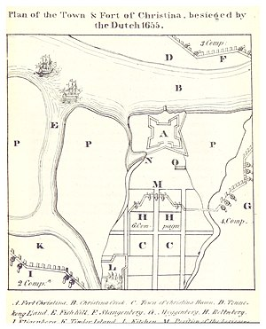 Fort Christina - Plan of the Town and Fort of Christina, 1834