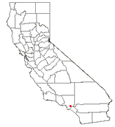 Location of Downey, California