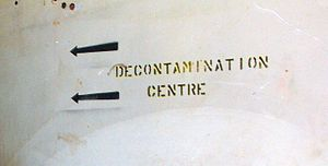 Supply Depot (Toronto) - The decontamination centre was underground near the office building