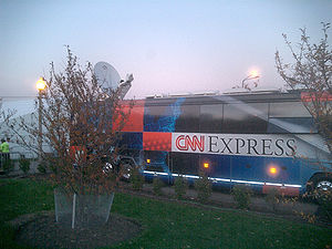 CNN - The CNN Election Express bus, used for broadcasts.