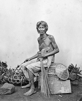 Caste - A Sudra caste man from Bali. Photo from 1870, courtesy of Tropenmuseum, Netherlands.