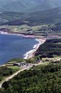 Cabot Trail highway in Nova Scotia