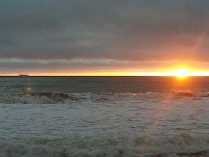 Cabrillo Beach - Sunset at Cabrillo Beach in the winter.