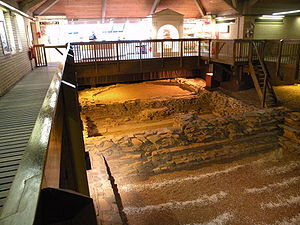 Caerleon Roman Fortress and Baths - Interior of the Roman Baths Museum