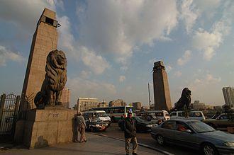Qasr El Nil Bridge - Image: Cairo ponte el tahrir