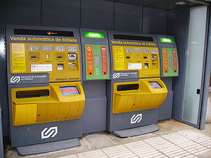 Ferrocarrils de la Generalitat de Catalunya - Ticket vending machines