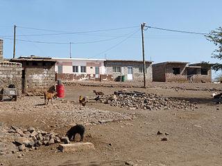 Calabaceira Settlement in Santiago, Cape Verde