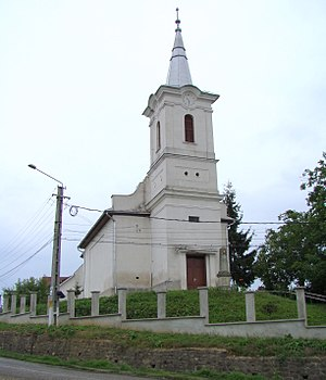 Calvinist church in Uriu (Felőr) village, Bist...