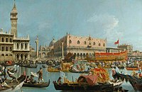 Canaletto - The Bucintoro Returning to the Molo on Ascension Day after the Ceremony of Wedding the Adriatic DUR DBM 1982 32 1.jpg