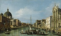 Canaletto - The Grand Canal with the Scalzi and S. Simeone Piccolo RCIN 407267.jpg