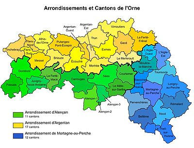 Arrondissements de l 39 orne wikip dia - Office du tourisme de basse normandie ...