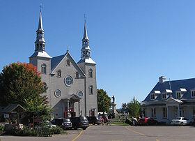 Église de Cap-Santé et son presbytère