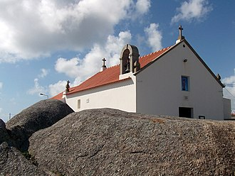 Saint Andrew's Day - Saint Andrew Chapel and rocks in Saint Andrew's Cape in Póvoa de Varzim, Portugal. In local mythology, Saint Andrew fished the souls of those drowned at sea and helped in fisheries and marriages.