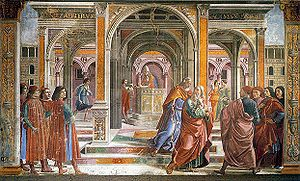 Tornabuoni Chapel - The Expulsion of Joachim from the Temple