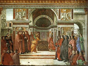 Cappella tornabuoni, 10, annuncio dell'angelo a zaccaria.jpg