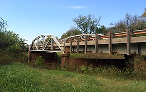 National Register of Historic Places listings in Lincoln County, Oklahoma - Image: Captain Creek Bridge Wellston OK