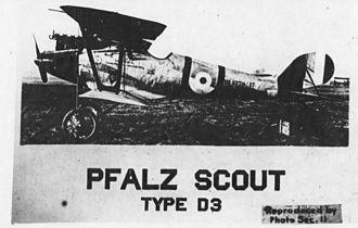 IV Corps Observation Group - Captured Pfalz D.III fighter
