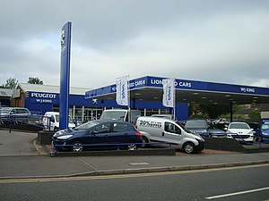 English: Car Dealer, Main Road, Sidcup