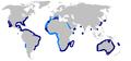 Dusky shark geographic range