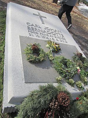 Carl Johan Bernadotte - Bernadotte's grave at the Royal Cemetery north of Stockholm.