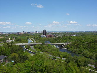 Rideau River - Rideau River and Rideau Canal opposite Carleton University