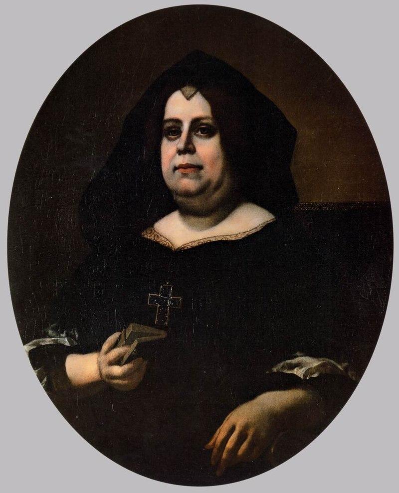 Carlo Dolci - Portrait of Vittoria della Rovere in Widow's Weeds - WGA6382.jpg