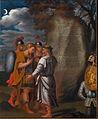 Carlo in Ubaldo v čudežnem ščitu pokažeta Rinaldu njegovo pravo podobo (kon. 17. ali zač. 18. st.).jpg