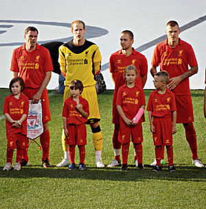Péter Gulácsi - Gulácsi with Carragher, Cole and Skrtel
