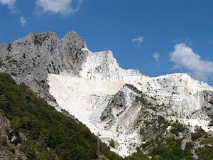 Quarry - Carrara quarry in Tuscany, Italy.