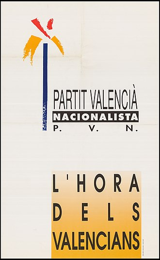 Nationalist Valencian Party - Image: Cartell PVN