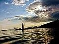 Catching small fish in lake kivu.jpg