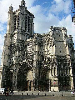 cathedral located in Aube, in France
