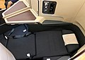 Cathay Pacific A350 business class seat at INDIGO Beijing (20180623192712).jpg