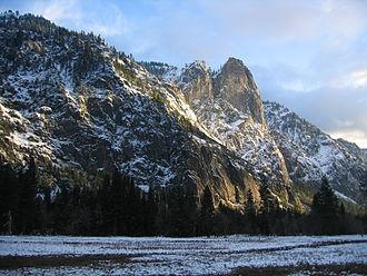 Yosemite Valley - Sentinel Rock at sunset