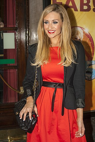 Catherine Tyldesley - Tyldesley outside the Manchester Opera House for a performance of the 9 to 5 musical.