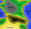 CaucasusRegionMapShowingSiracena.png