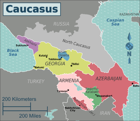 the caucasus region The rest of the north caucasus region – the north caucasian district – has  maintained its distinct muslim identity and hence was configured.