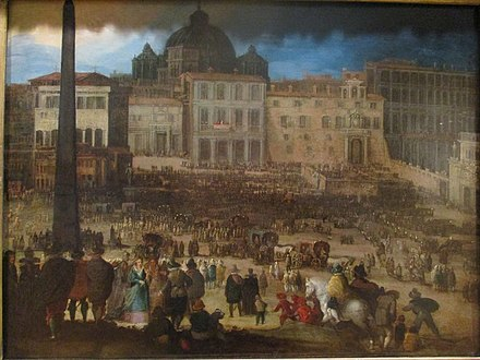 Election of Pope Clemens VIII in 1592, by Louis de Caullery, Petit Palais (Paris) Caullery Pape Clement VIII Rome.jpg
