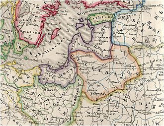 Pomerelia - Pomerelia as a part of the Teutonic Knights' state in the early 14th century