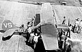Cessna OE-1 of VMO-2 on USS Philippine Sea (CVS-47) in 1958.jpg