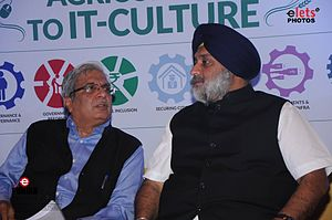 Sukhbir Singh Badal - Image: Chairman Punjab Governance Reforms Commission,with S. Sukhbir Singh Badal Chandigarh,India