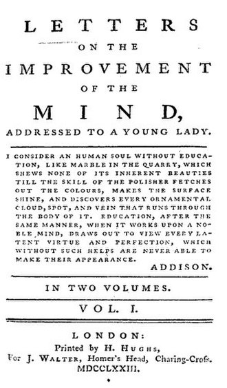 Thoughts on the Education of Daughters - Title page from the first edition of Hester Chapone's Letters (1773), one of the most popular conduct books at the time Wollstonecraft was writing Thoughts