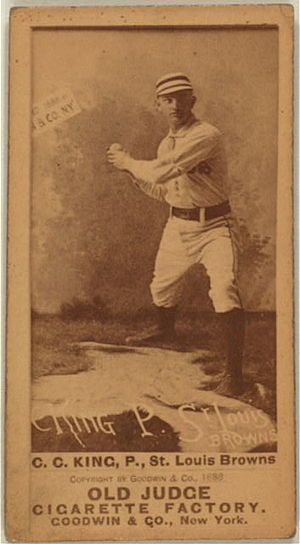 Silver King (baseball) - Image: Charles 'Silver' King (baseball card)