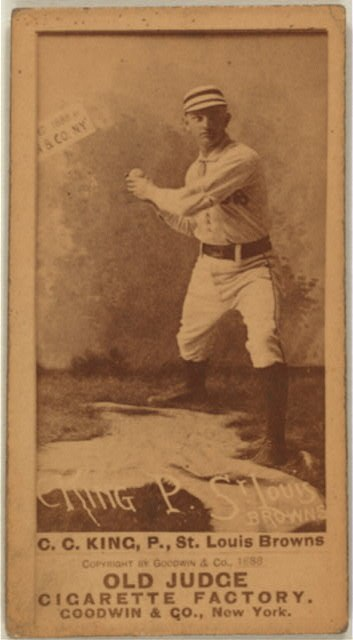 Charles 'Silver' King (baseball card)