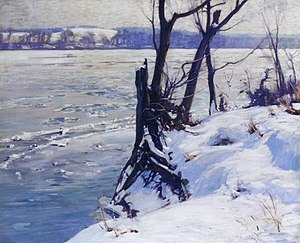 Charles Rosen (painter) - A Winter Morning - Bucks County, 1913