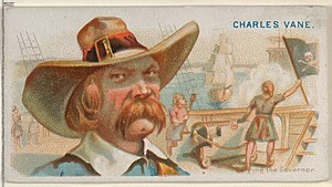 Charles Vane - Image: Charles Vane, Defying the Governor, from the Pirates of the Spanish Main series (N19) for Allen & Ginter Cigarettes MET DP835025