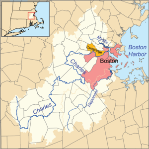 Charles River Wikipedia - Us map with rivers